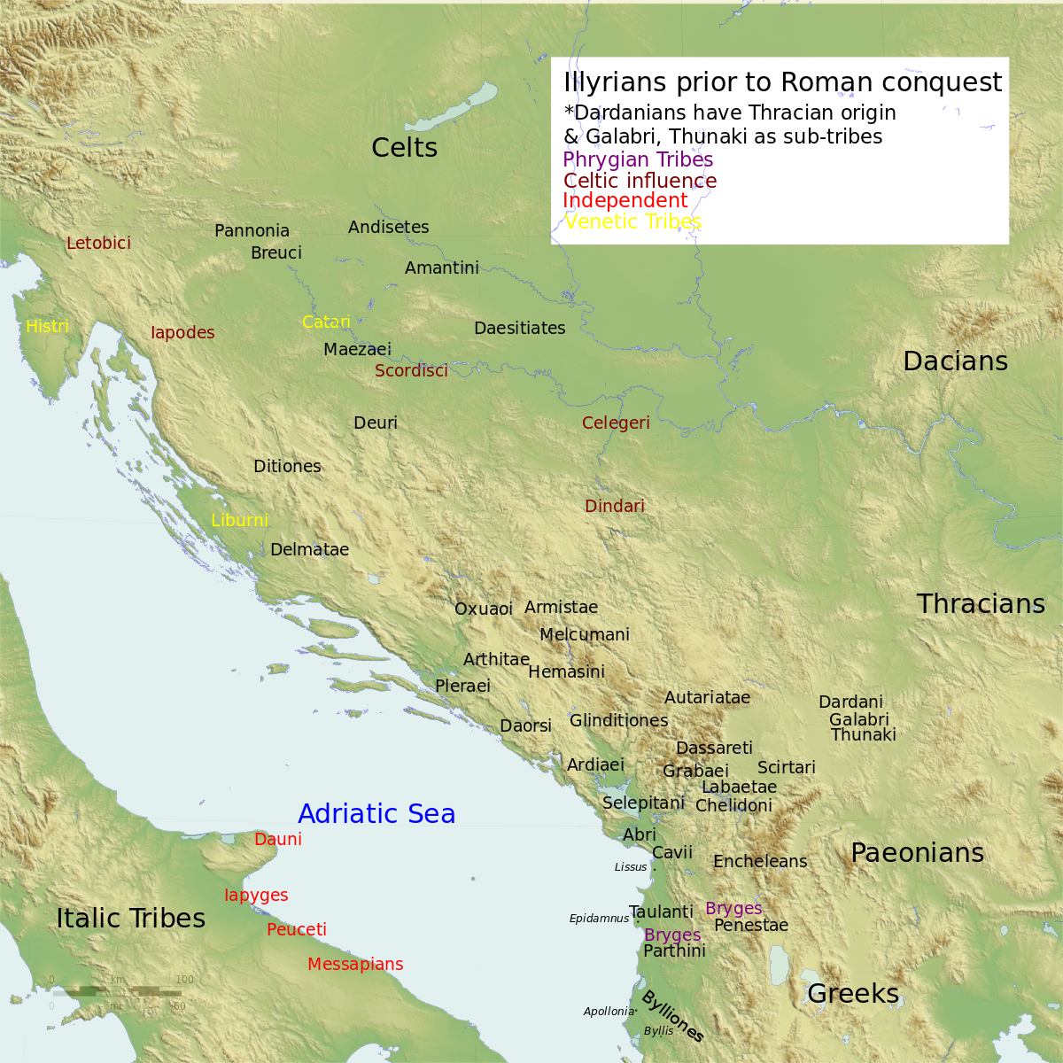 Illyrian Tribes English