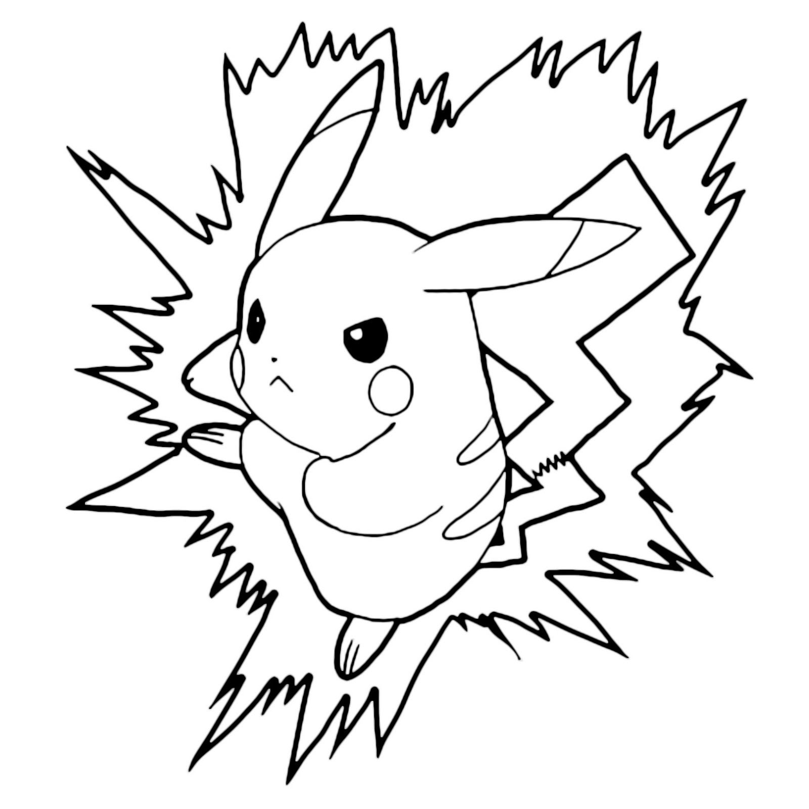 Angry Pokemon Pikachu Lightning Bolt Attack Coloring Pages Pikachu Coloring Page Pokemon Coloring Pages Pokemon Coloring Sheets