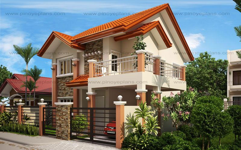 Mhd 2012004 Pinoy Eplans Philippines House Design House Plans Two Storey House Plans