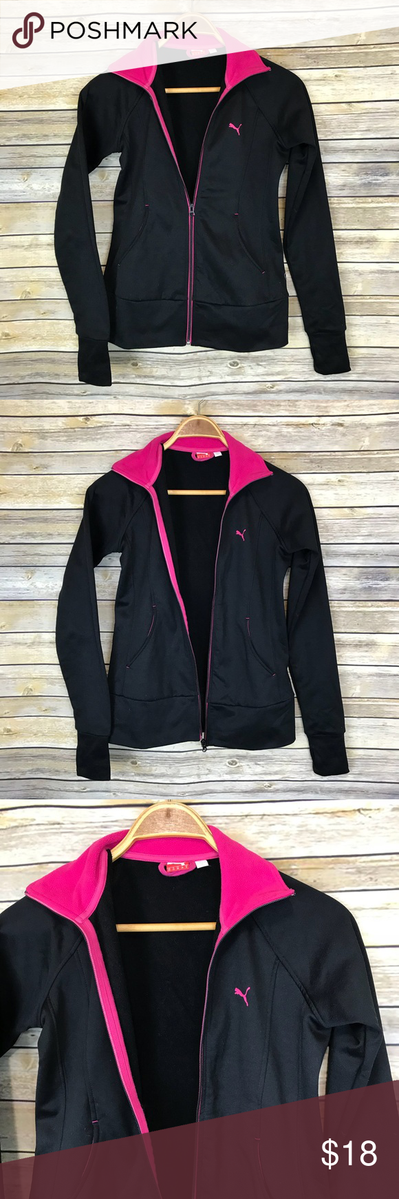 Puma Black Pink Full Zip Athletic Jacket Xs Puma Women S Size Xs In Good Condition No Issues 100 Polyester Me Athletic Jacket Jackets Puma Jackets [ 1740 x 580 Pixel ]