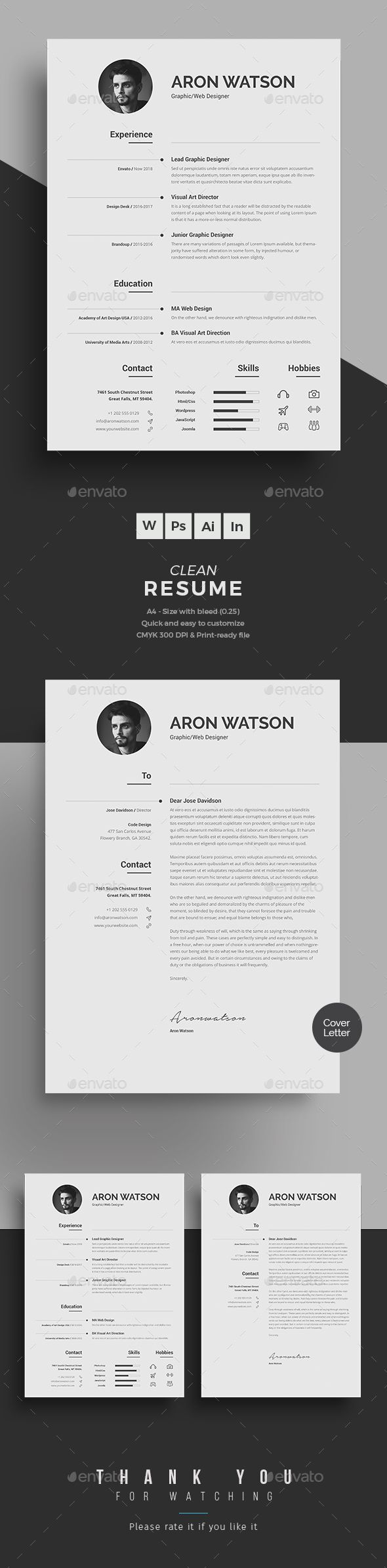 Visual Resume Templates Clean Resume Format In Wordsimple Typographic And Visual