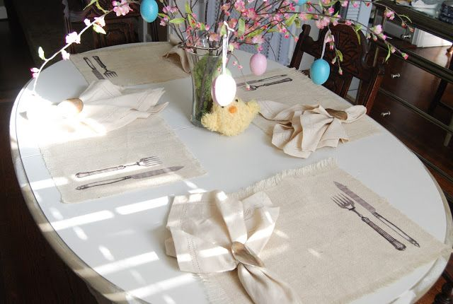 everyday simple easter decor via Life On Lyford