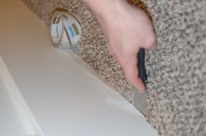 How To Paint Baseboards On Carpet Bit Of This And That