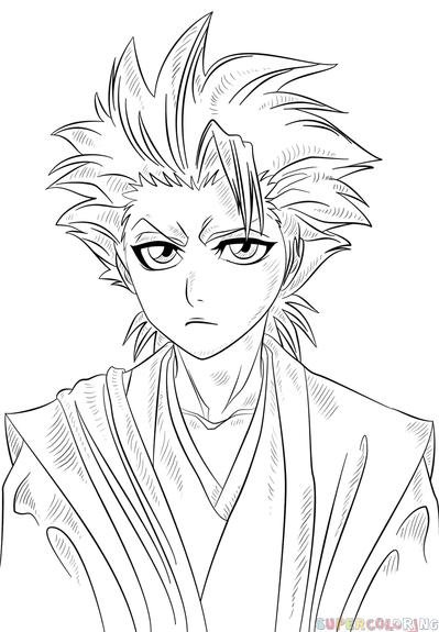 How To Draw Toshiro Hitsugaya Step By Step Drawing Tutorials For Kids And Arte Con Lejia Como Dibujar Cosas Ojos Anime