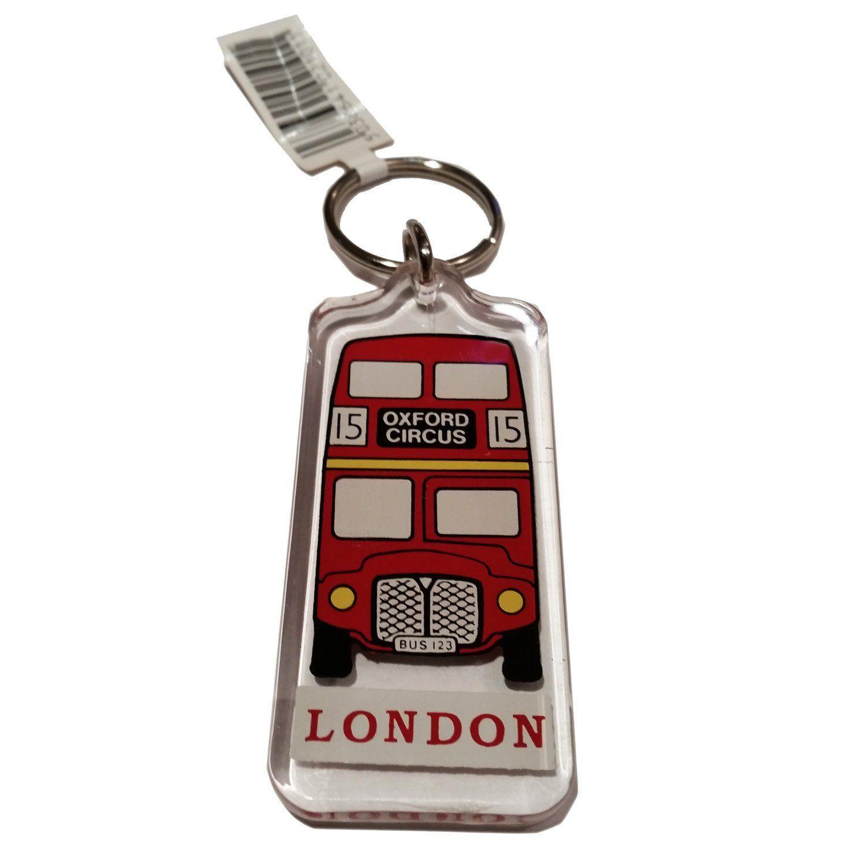 Key Ring British Flag London UK Key Chain Keyring Souvenir Union Jack Red Telephone Box Metal Spinner Keychain