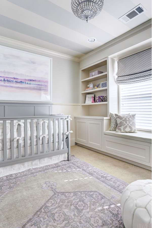 agreeable grey and white baby room ideas. Wall paint color is Agreeable Gray and trim Divine White Sherwin  Williams Beautiful nursery