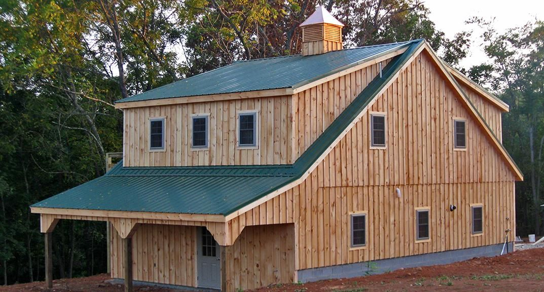 36x24 two car two story garage barn combo board and for Garage barns with living quarters
