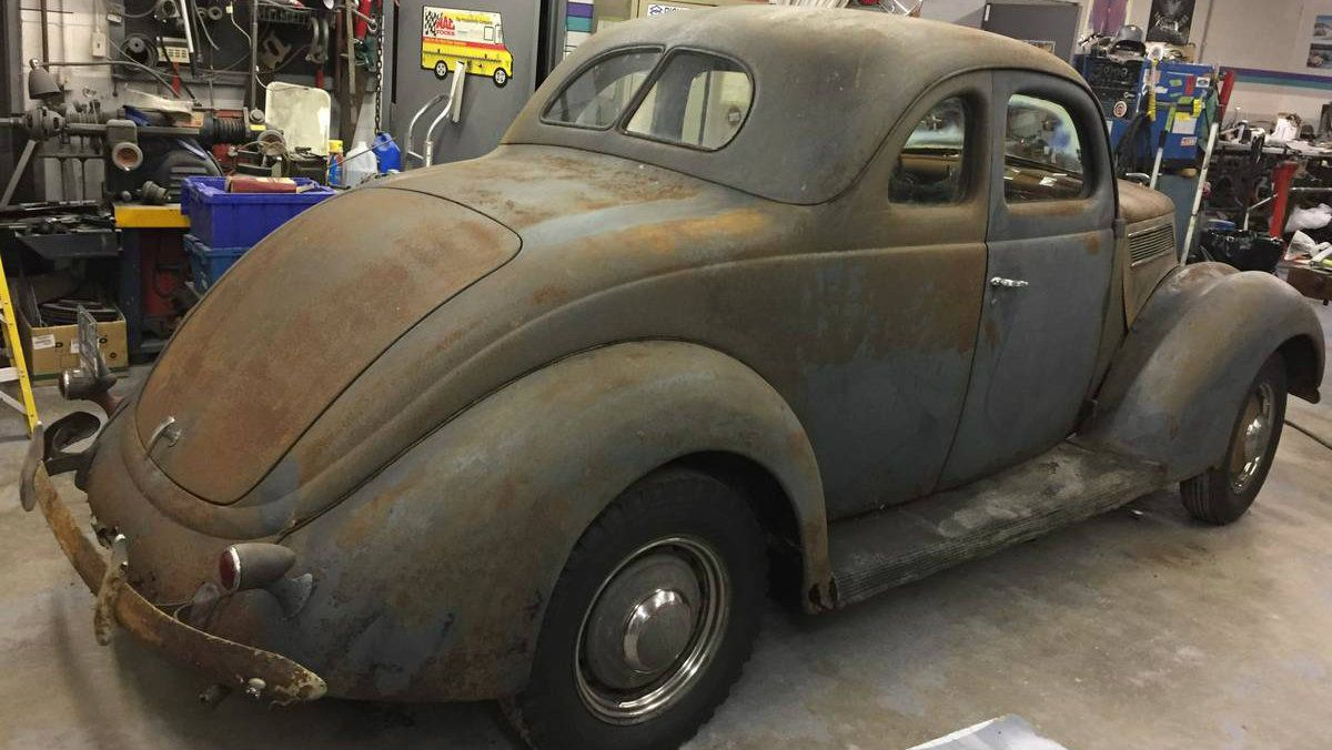 New England Barn Find: 1937 Ford Coupe Deluxe | Barn finds, Ford and ...
