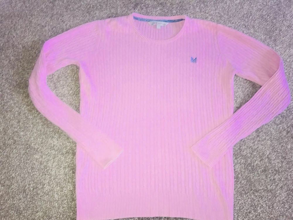 934c51565d8 CREW CLOTHING COMPANY ladies Cable Knit Pale Pink Jumper - Sz 14 - Layering   fashion  clothing  shoes  accessories  womensclothing  sweaters (ebay link)