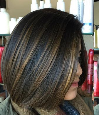 Dark Base With Caramel Highlights Hair Color For Black