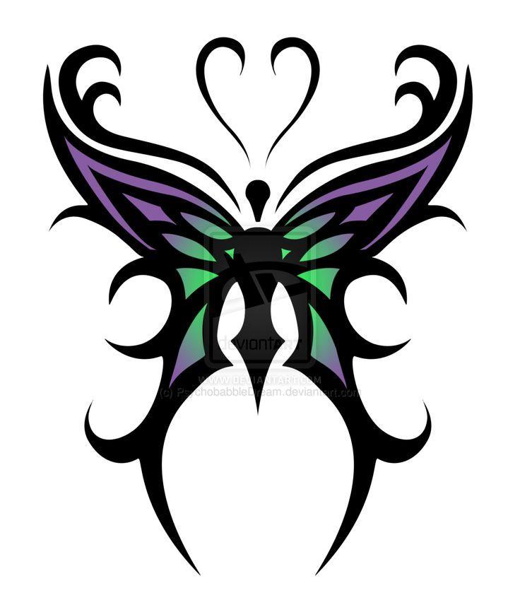 simple butterfly designs. butterfly tattoo designs u203a cool purple green tribal simple