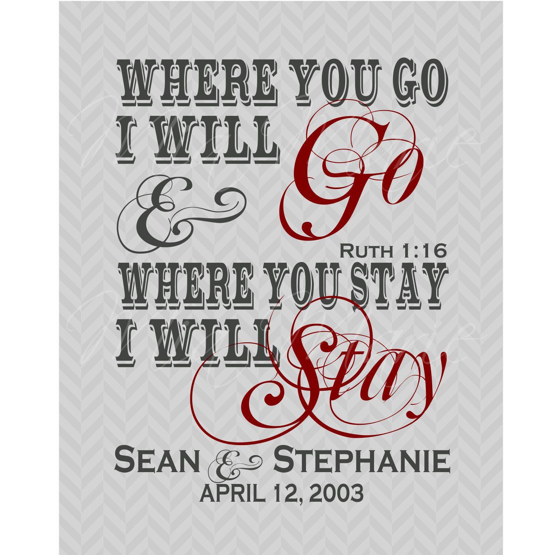 Where You Go I Will