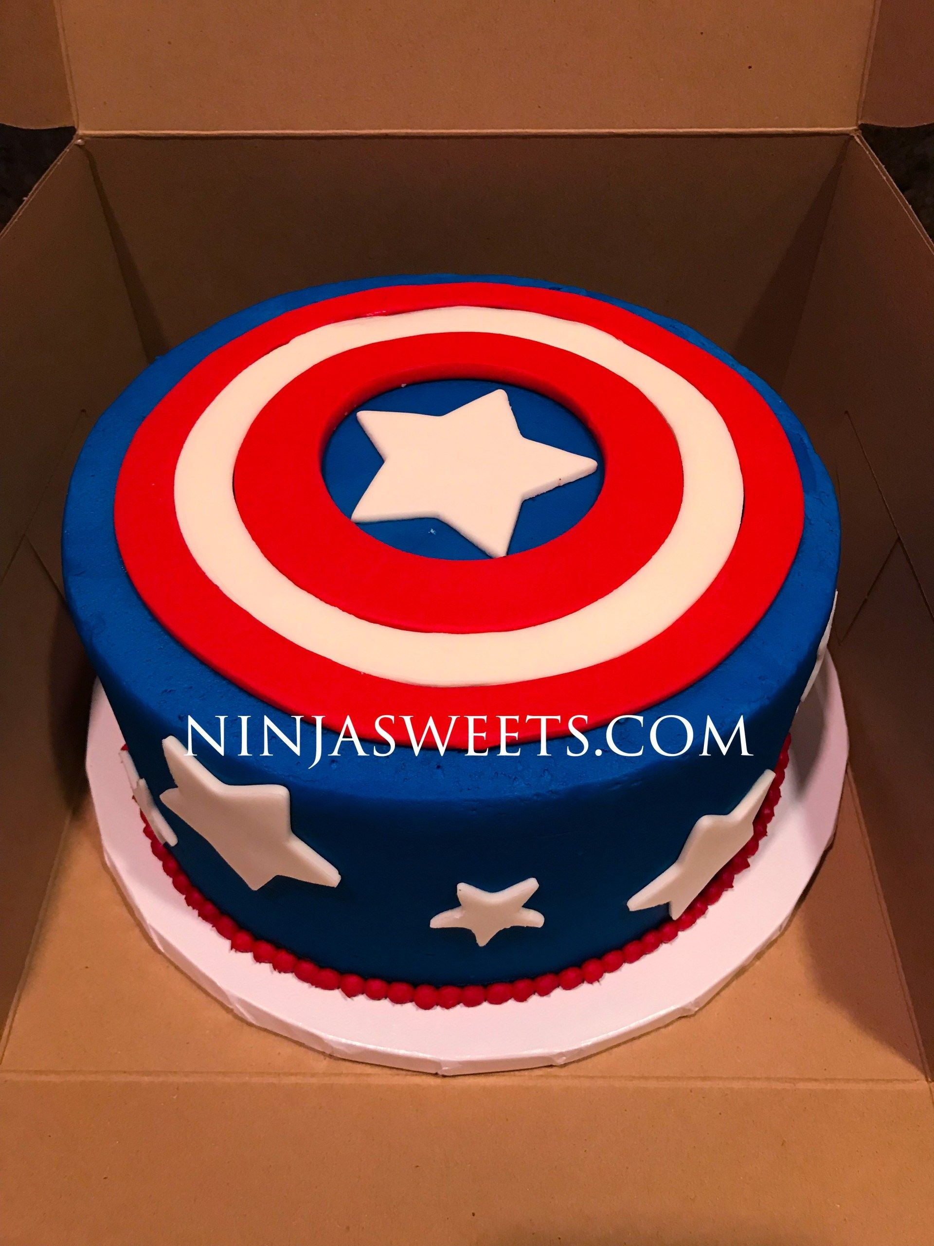 Awe Inspiring Captain America Birthday Cake Captain America Themed Birthday Cake Funny Birthday Cards Online Alyptdamsfinfo