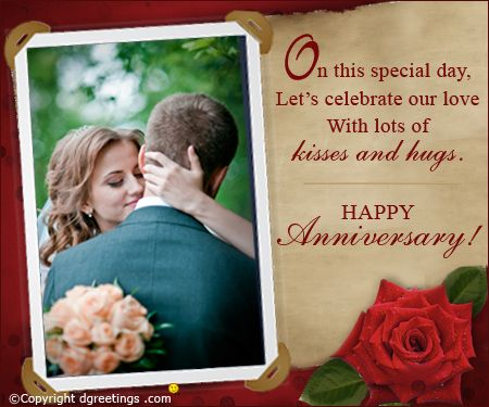 Celebrate your big day in a very special way happy anniversary