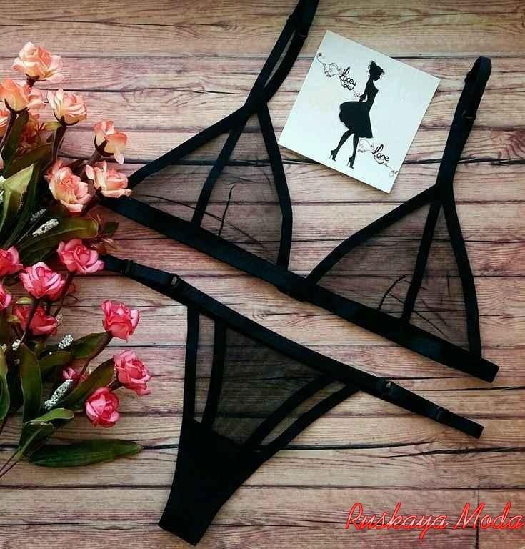 Женское белье черное с розовым женское нижнее белье пеньюар фото
