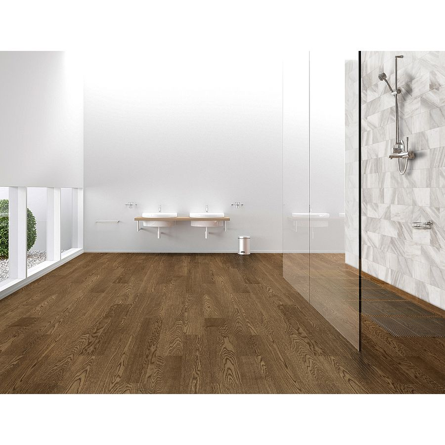 Shop style selections outpost walnut glazed porcelain for Indoor outdoor wood flooring