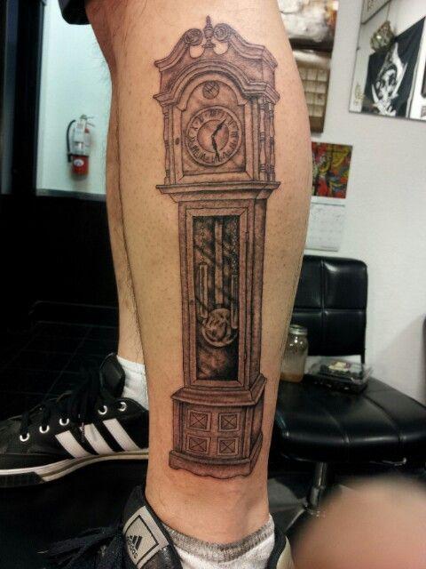 Teds Grandfather Clock Clock Tattoo Clock Tattoo Sleeve Grandfather Tattoo