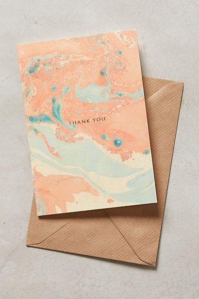 Marbled Thank You Card #anthrofave #anthropologie.com