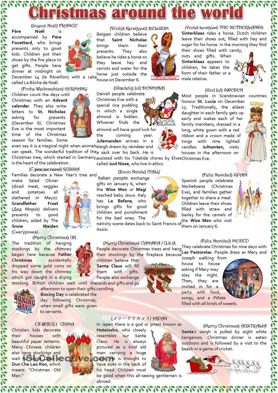 Christmas around the world | Christmas | Pinterest | Undervisning, Jul og Læring