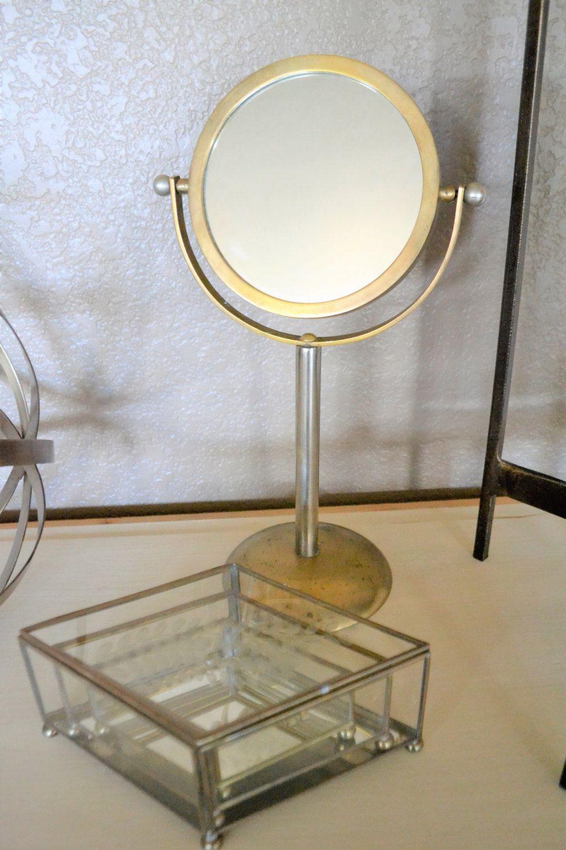 Brass Swivel Vanity Mirror