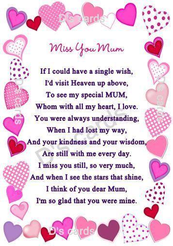 In Loving Memory Card Keepsake Grave Mum Nan Auntie For Any