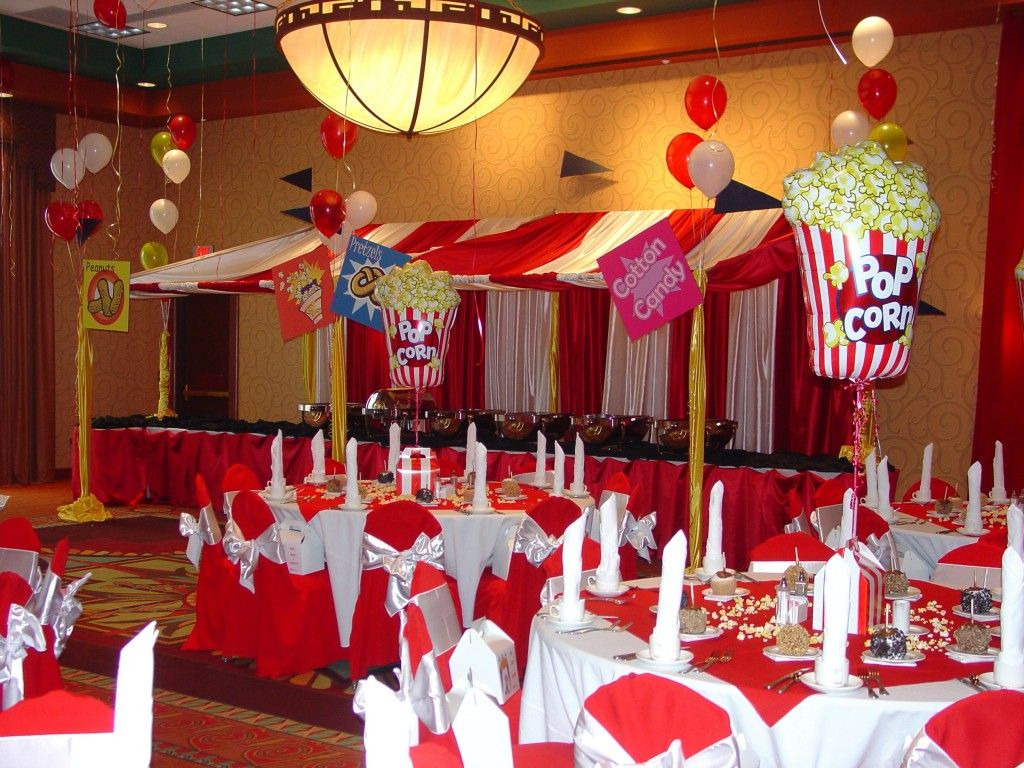 Carnival or circus theme decor 16th birthday for Adult birthday decoration