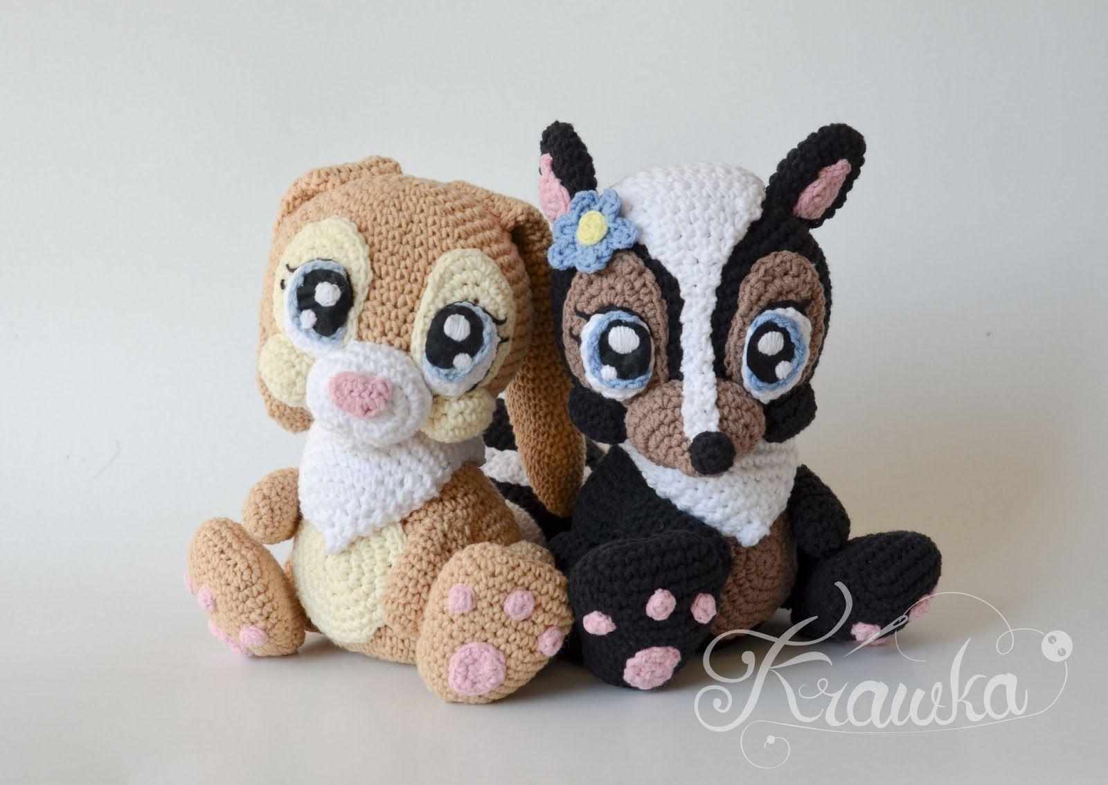 Krawka: Miss Bunny and Skunk Flower - disney bambi inspired crochet ...