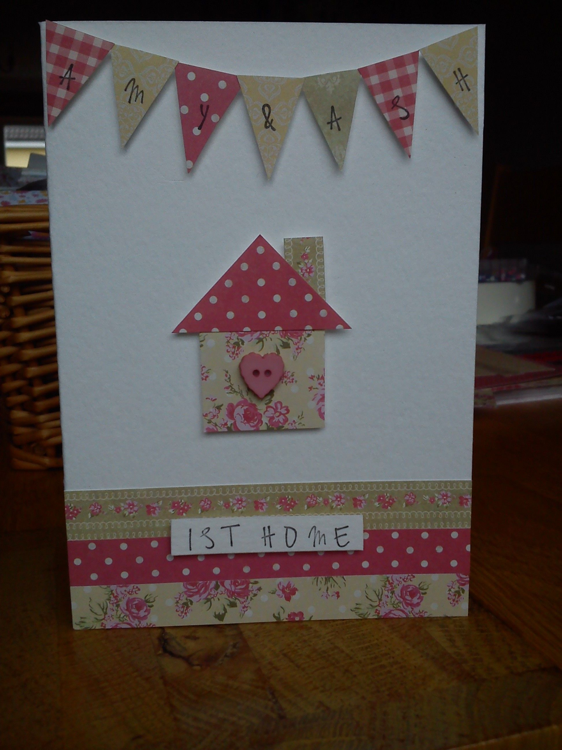 handmade personalised new home card …  welcome home cards