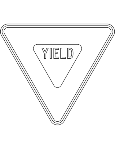 Yield Sign In The Usa Coloring Page Yield Sign Printable Signs Printable Signs Free