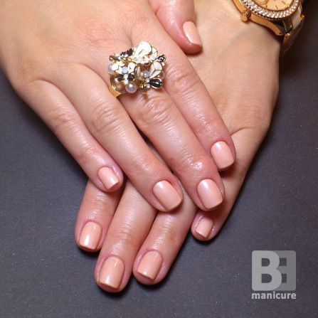 Gelish Forever Beauty (01325) # Basic Collection # nude nails # peach nails