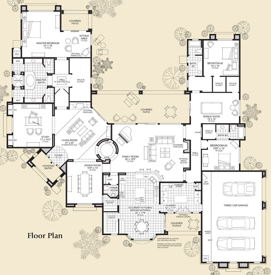 Cantaro At Saguaro Estates Luxury New Homes In Scottsdale Az Floor Plans Dream House Plans House Plans