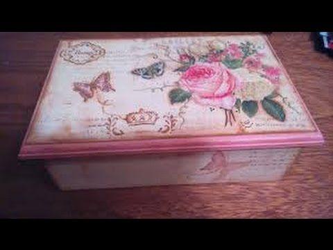 Como decorar una caja estilo vintage hogar tv por juan - Decorar cajas de madera manualidades ...
