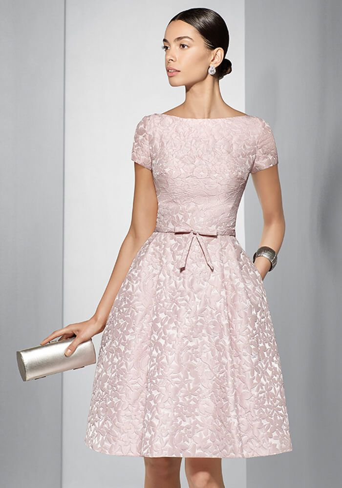 70bd4157f Rosa Clara Couture Club Embossed Dusky Pink Dress – Style 155 Top Ladies  Boutique Online - Special Occasion