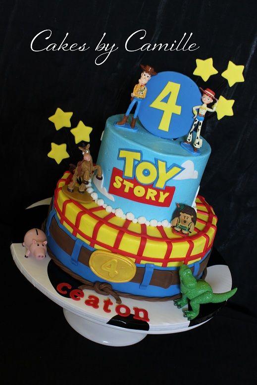 Pleasing Toy Story Birthday Cake Woody Buzz Lightyear Toy Story Birthday Funny Birthday Cards Online Alyptdamsfinfo