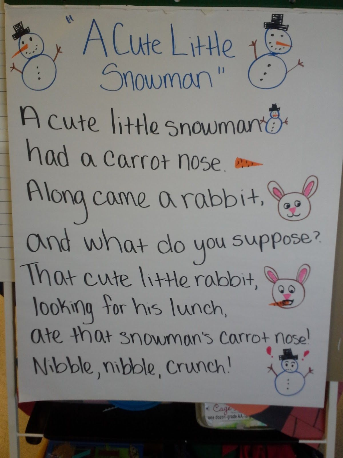 Winter Poems For Kindergarten