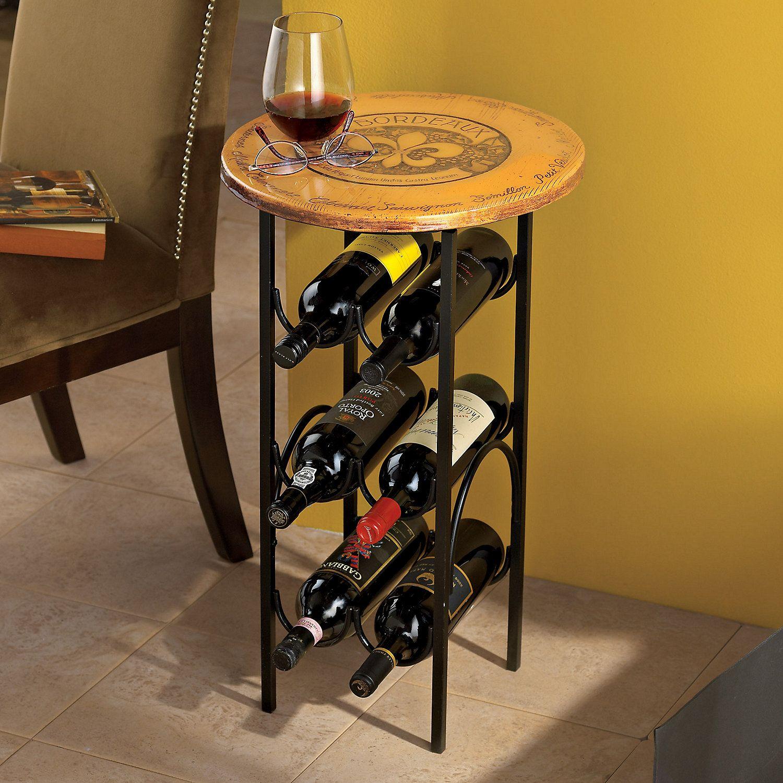 Bordeaux Wine Rack Side Table  Wine Enthusiast
