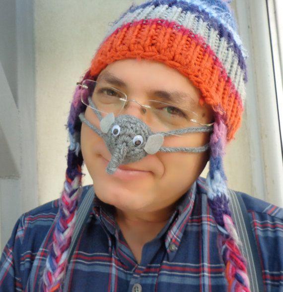 Elephant Nose Warmer Crocheted Tween Teen Adult By Byrosali 700