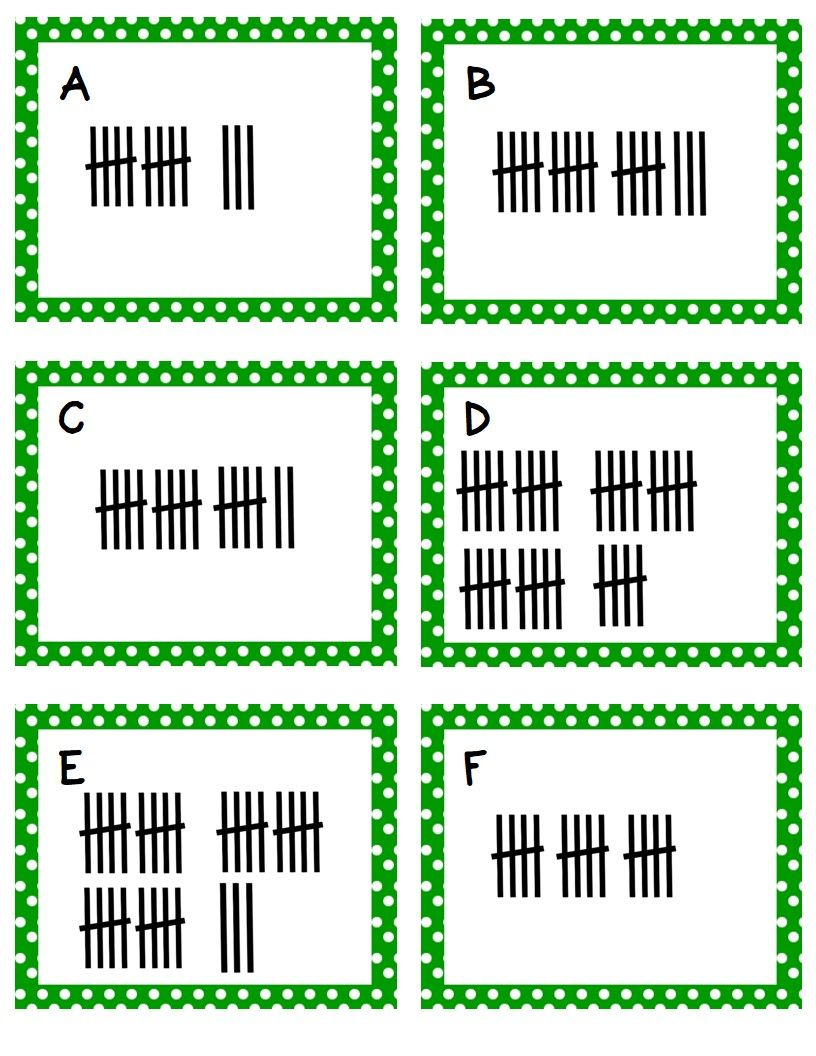 Kindergarten Task Cards Bundle | Tally marks, Counting money and ...