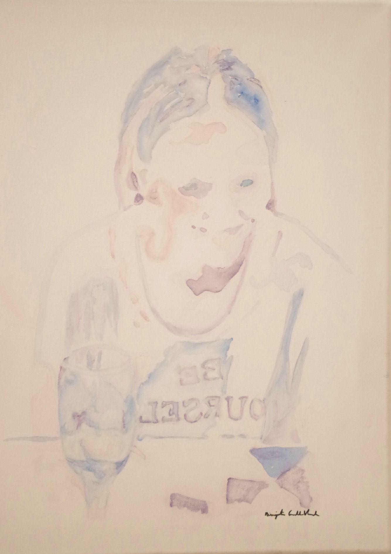 """Finally 18"" acrylic painting Birgita Golob-Vurnek"