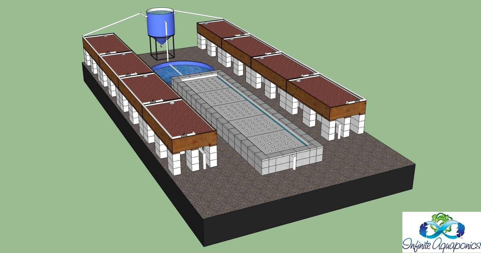 Commercial Greenhouse Aquaponics System Designs Visit My