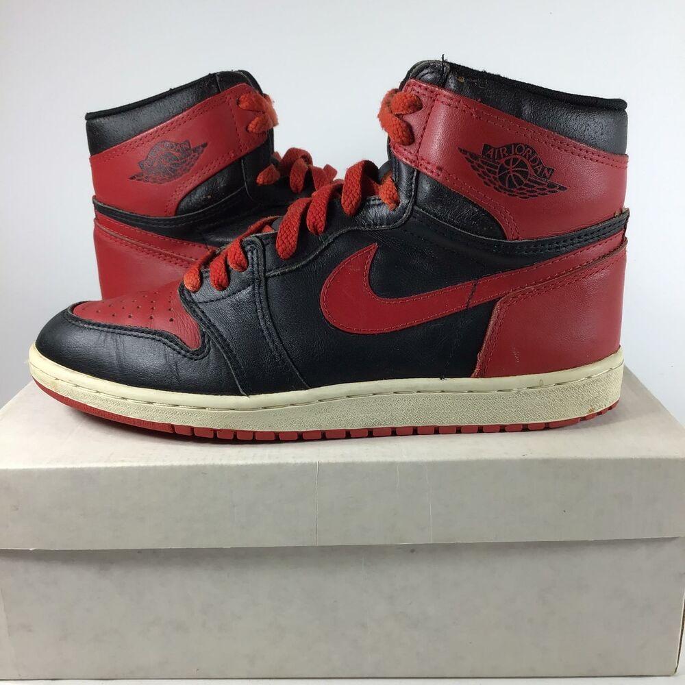 855d13d55dd eBay Sponsored) 1985 Air Jordan 1 BRED MPN 4281 Size 9, USED, J5 ...