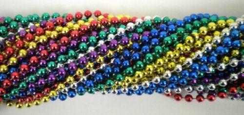 33 Inch 07mm Round Metallic 6 Color Mardi Gras Beads - 6 Dozen (72 Necklaces) Plush Appeal, LLC The Mardi Gras Spot,http://www.amazon.com/dp/B003XZOJO2/ref=cm_sw_r_pi_dp_zSWCtb1ZSHCGWMCE