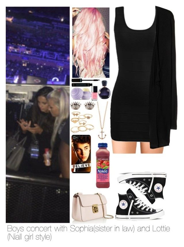 """""""Boys concert with Sophia and Lottie"""" by myllenna-malik ❤ liked on Polyvore featuring Forever 21, Arden B., Converse, MANGO, Chloé, Juicy Couture, Justin Bieber, Eos, Lacoste and Minor Obsessions"""