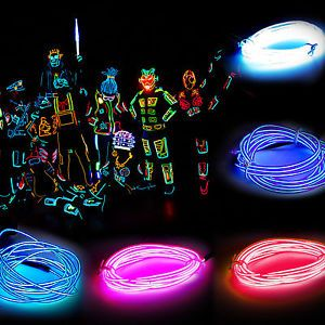 Flash Flexible Fairy Led Tron Neon Glow El Strip Wire Rope Light Dancing Party