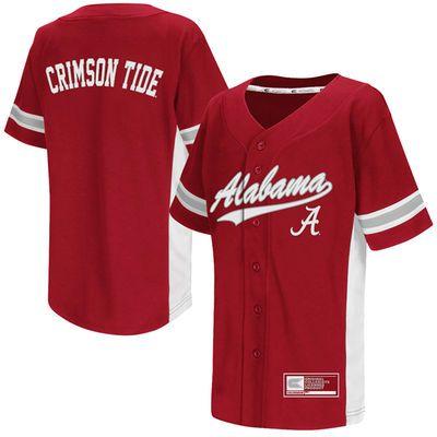 Youth Colosseum Crimson Alabama Crimson Tide Batter Up Baseball Jersey Alabama Crimson Tide Crimson Tide Alabama