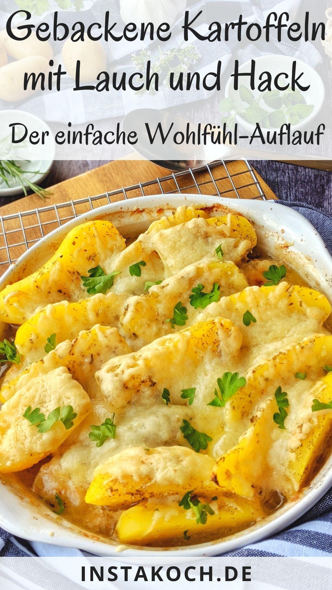 Gebackene Kartoffeln mit Lauch und Hack - Total lecker