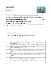 English Teaching Worksheets Finding Nemo
