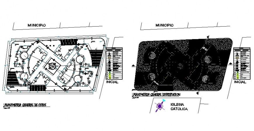 Municipal Park General Architecture Plan And Landscaping Structure Details Dwg File Municipal Park