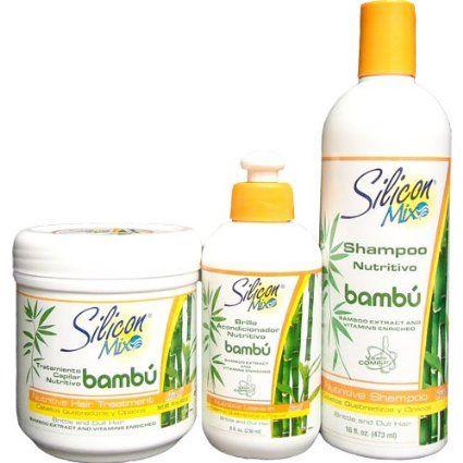 Silicon Mix Bambu Nutritive Hair Combo Set II/Misturar um pouco do creme Silicon Mix com o creme brasileiro Kanechom Leite de Cabra.