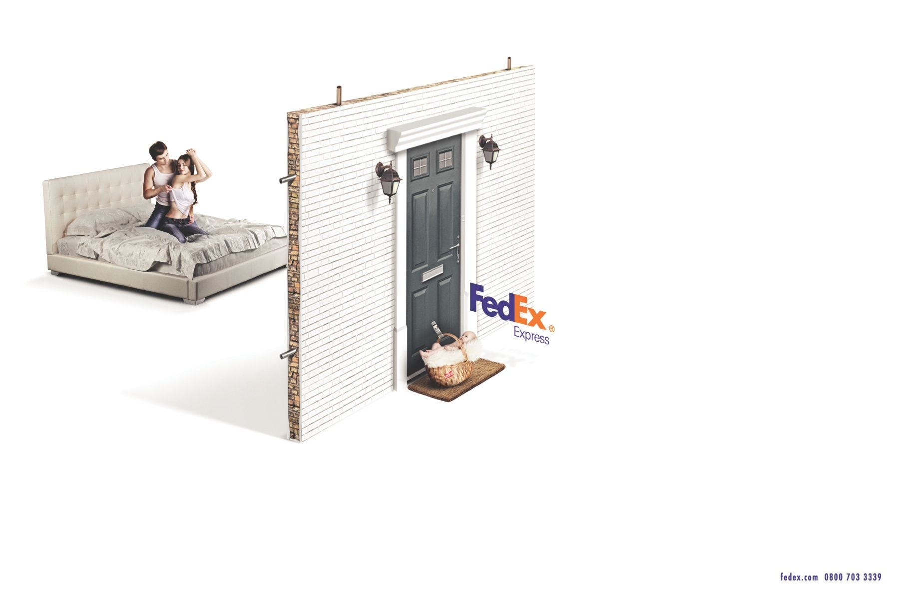 Print Advertisment Created By Cuca Escola De Criativos Brazil For FedEx Within The Category Transport